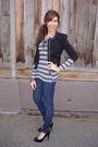 Gap-shirt-black-forever-21-blazer-random-brand-jeans-black-steve-madden-sh