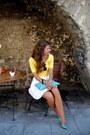 Black-seppl-sunglasses-yellow-worn-as-a-top-gina-tricot-dress