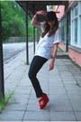 Red-oasap-wedges-black-vero-moda-jeans-black-bowler-lindex-hat
