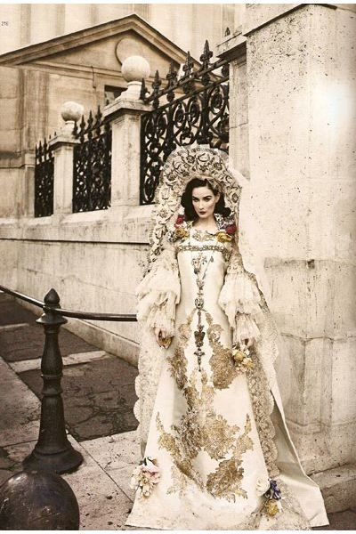 Beigechristianlacroixweddinggowndress 400