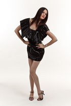 black Konstantina Mittas dress