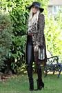 Karen-millen-coat-nine-west-boots-new-look-hat-spell-bag-topshp-pants