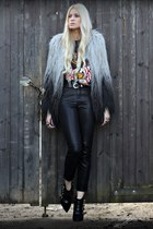 Topshop coat - kooples boots - Topshop pants - Ebay t-shirt
