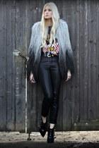 Topshop coat - kooples boots - Topshop pants - Ebay t-shirt