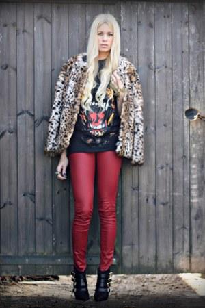 gerard darel jacket - kooples boots - Biba jeans - Ebay t-shirt