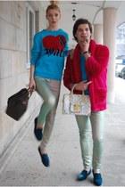 periwinkle spakle jeans H&M jeans - sky blue Diesel sweater