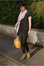 Tan-isabel-marant-boots-charcoal-gray-knitted-zara-dress-black-miss-sixty-ti