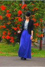 Black-no-brand-blazer-purple-moms-skirt