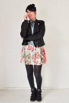 black Mossimo jacket - light blue Americanino skirt