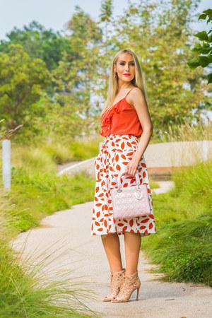 christian dior bag - asos skirt