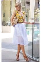 Bebe blouse - Chanel bag - christian dior sandals