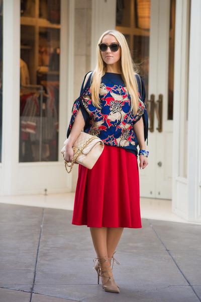 Chanel bag - asos skirt