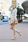 Mango-sunglasses-nude-steve-madden-heels-light-pink-zara-skirt