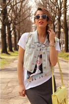 silver Topshop t-shirt - cream H&M bag