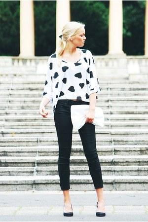Topshop shirt - H&M shoes - Terranova bag - Terranova pants