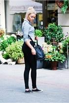 Zara sweater - Parfois bag - Converse sneakers - h&m divided panties