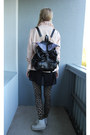 Winged-backpack-bag-dusty-pink-bershka-jacket-leopard-print-tk-maxx-leggings