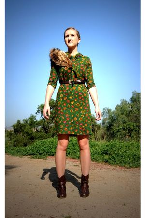 green Pearly Smith Vintage dress