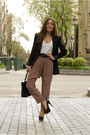 Pink-maje-pants-black-aldo-shoes-black-hermes-belt-black-vintage-purse-w