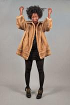 faux fur brown vintage coat