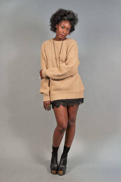 chunky knit vintage sweater
