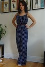 Navy-polka-dot-forever-21-romper-beige-aldo-wedges-dark-brown-joe-fresh-belt
