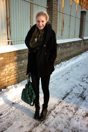 boots - Zara coat - Tally Weijl leggings - New Yorker scarf - New Yorker bag