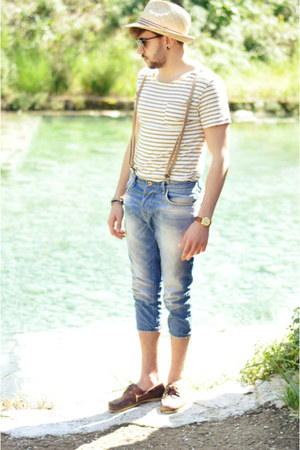 Lumberjack shoes - Zara jeans - Bershka t-shirt - BRUNO PIATTELLI watch