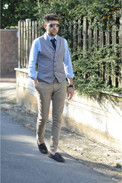 antony morato shoes - NaraCamicie blazer - ray-ban sunglasses - Brooksfield tie