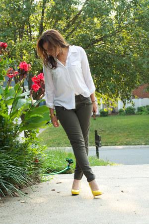 Forever21 blouse - Nine West heels - Gap pants - Michael Kors watch