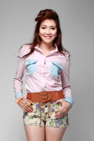 amethyst PinkReebonzcom shorts - tawny PinkReebonzcom belt - light pink PinkReeb