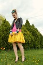 Hot-pink-and-yellow-mode-merr-dress-turquoise-blue-hairbow-miss-ruths-time-bom