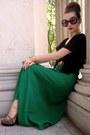 Green-vintage-skirt-black-target-top-camel-rugged-warehouse-shoes-gold-vin