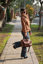 Camote Soup sweater - Platanitos boots - dejavu jeans - Crepier bag