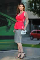 orange H&M blouse - silver Hugo Boss skirt - black Diesel sandals