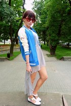 new look shoes - pull&bear blazer - brylove glasses