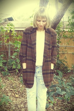 Playground Love Vintage blazer - One Teaspoon jeans - H&amp;M t-shirt