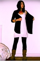 Vila dress - GINA TRICOT - Kvickly leggings - H&M - modified Pieces necklace - K