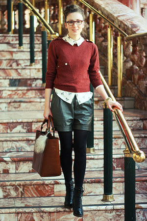 next bag - next sweater - new look shirt - New Yorker shorts