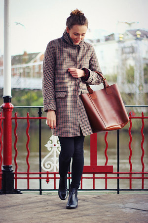 next bag - ecco boots - Topshop coat - Topshop pants