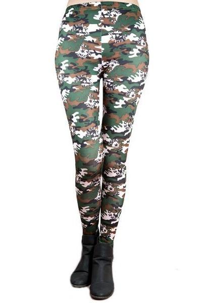army green Poppy Lovers leggings