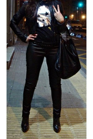 leather pants Bershka jacket - leather Mango leggings
