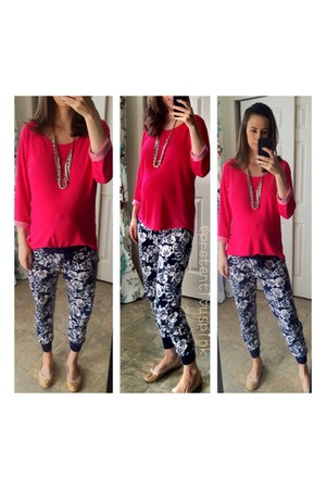 sutton necklace Stella & Dot accessories - Forever 21 pants - hot pink H&M top