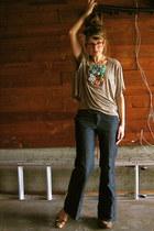 wide-leg Gap jeans - leopard print H&M shirt