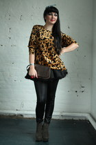 bronze animal print Pretty Disturbia Vintage t-shirt