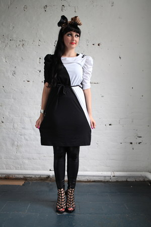black black and white Pretty Disturbia Vintage dress