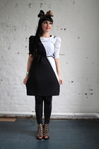 black black and white Pretty Disturbia Vintage dress