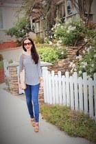 brown Charles David shoes - blue Juicy Couture jeans - brown kate spade bag