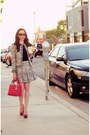 Gray-alice-olivia-blazer-ruby-red-dior-bag-black-alice-olivia-blouse