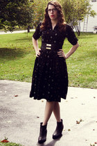 Trashy Diva dress - sam edelman boots - Local Boutique belt
